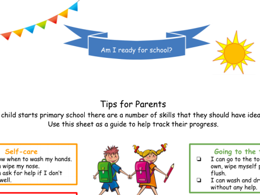 Starting School - School Readiness Checklist