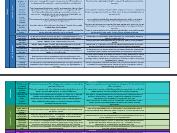 PGCE Teachers' Standards (Wales, 2017)