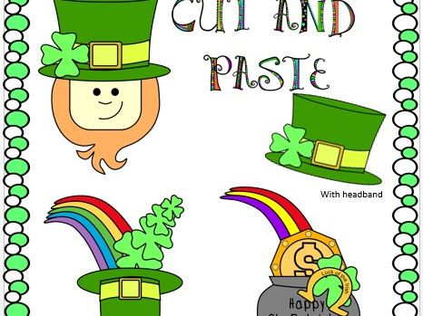 Cut and Paste St. Patrick's Day Crafts