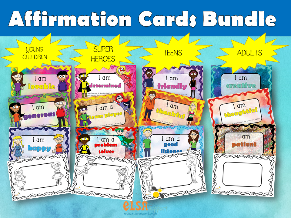 Affirmation Cards Bundle - PSHE, Social and emotional learning