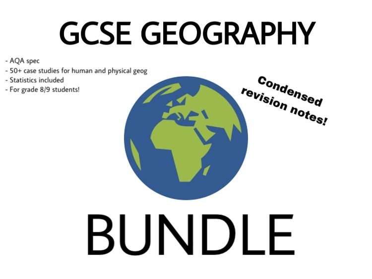 AQA Geography GCSE note bundle