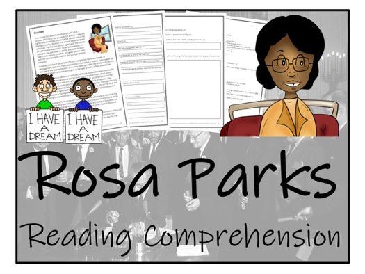 UKS2 History - Rosa Parks Reading Comprehension Activity
