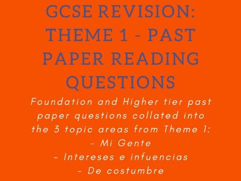 Past Paper Reading Questions - Theme 1: Identity & Culture