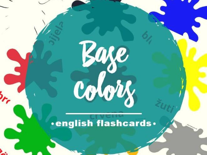 Printable Colors Flashcards in English