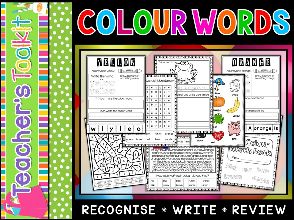 Colour Words Worksheets | Activities for Learning Colours