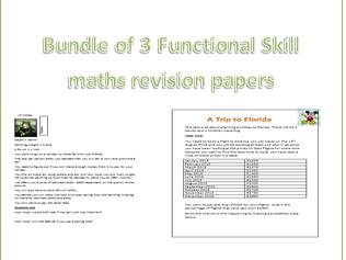 Revision tasks functional skills maths L2