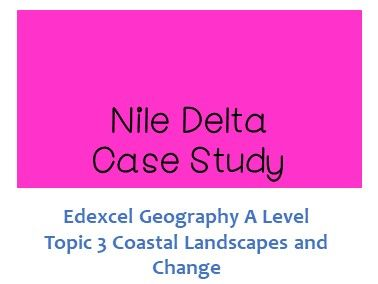 Edexcel A Level Geography Nile Delta Case Study - Coastal Recession