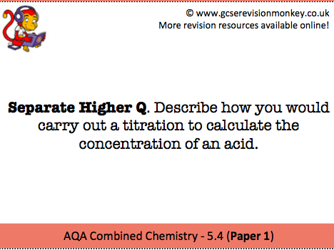 Revision Cards - AQA Separate Chemistry 5.4