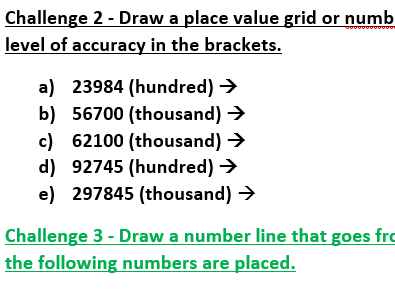 Round to a specific level/degree of accuracy (differentiated, with answers)