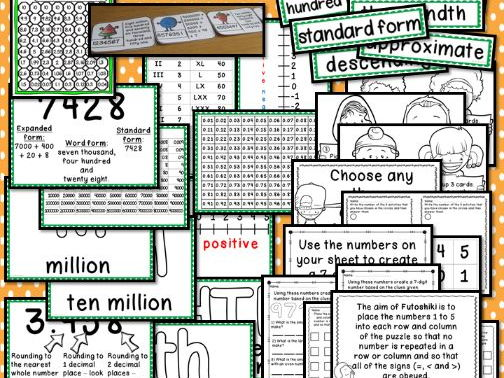 Interactive Place Value Displays & Challenge Table Activities Year 6 Number