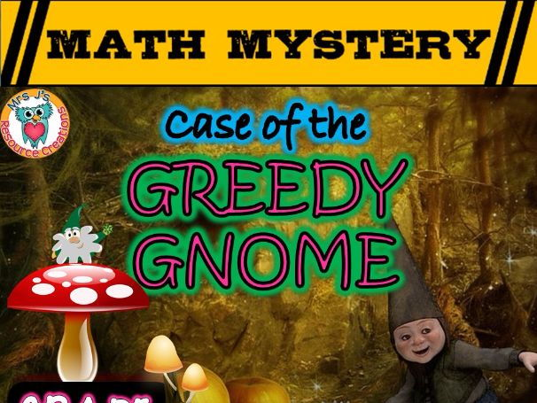 Graphs Math Mystery: Case of The Greedy Gnome (GRADE 2)