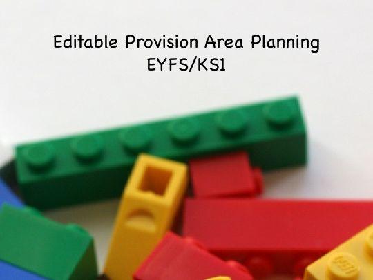 Editable  LT EYFS/KS1 Provision Area Planning
