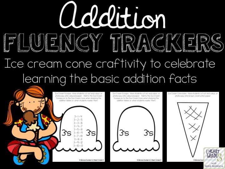 Addition Fluency Tracker