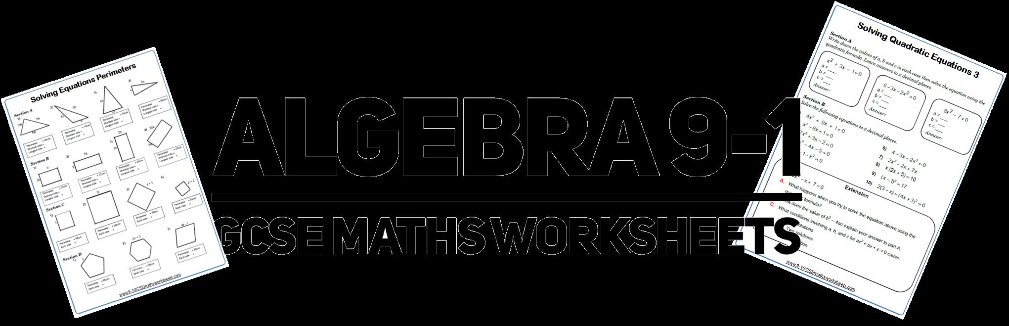 Algebra Sample Bundle 1