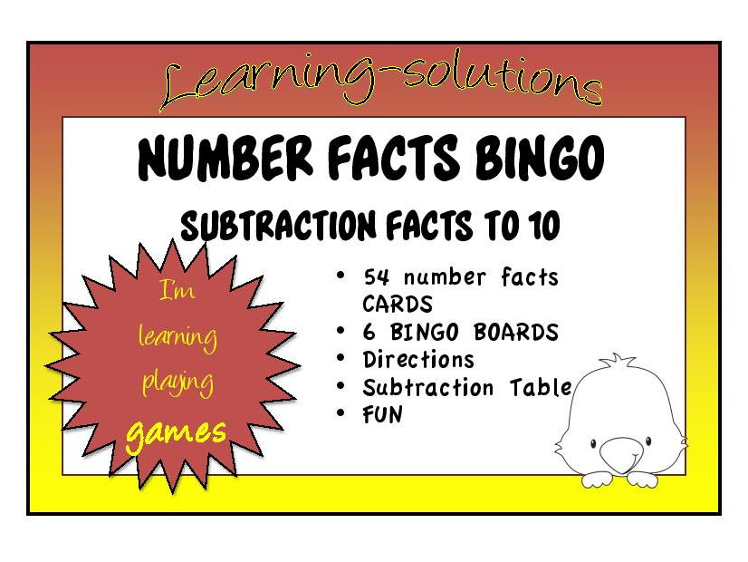 Number Facts Mastery Bundle   Packages Of Games For Addition