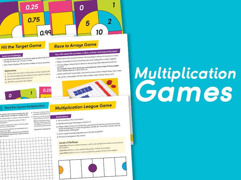Pack of Multiplication Games for KS1 & 2