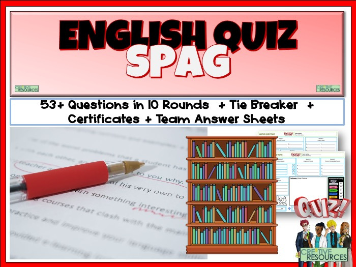 Primary SPaG Literacy Quiz