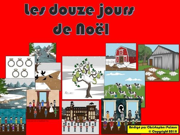 Primary French: Les douze jours de Noel (The 12 days of Christmas) (Key Stage 2)