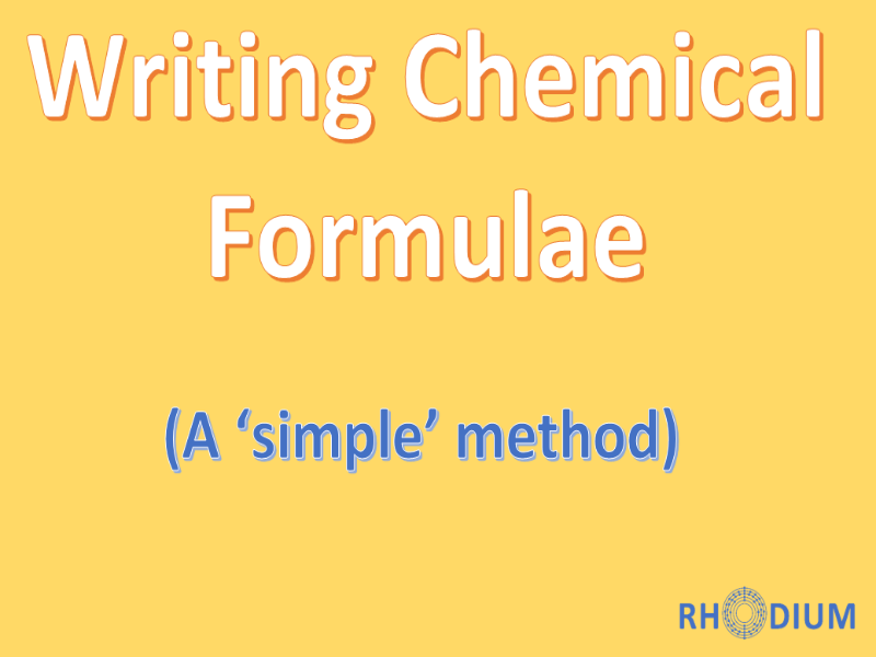 Working Out Simple Ionic Formulae By Cropps Teaching Resources Tes