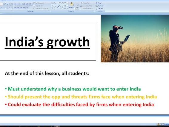 India's Growth - A level Business / Economics