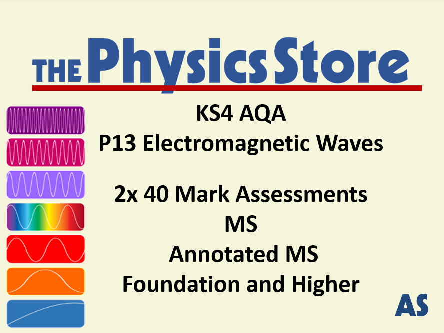 KS4 GCSE Physics AQA P13 Electromagnetic Waves - 2x 40M Assessment, MS, Annotated MS - F and H