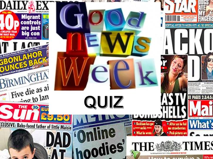 Weekly News Quiz wc 2/3/20 Science Week Edition