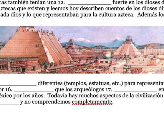 Ancient Civilizations Vocabulary Worksheet (Spanish)