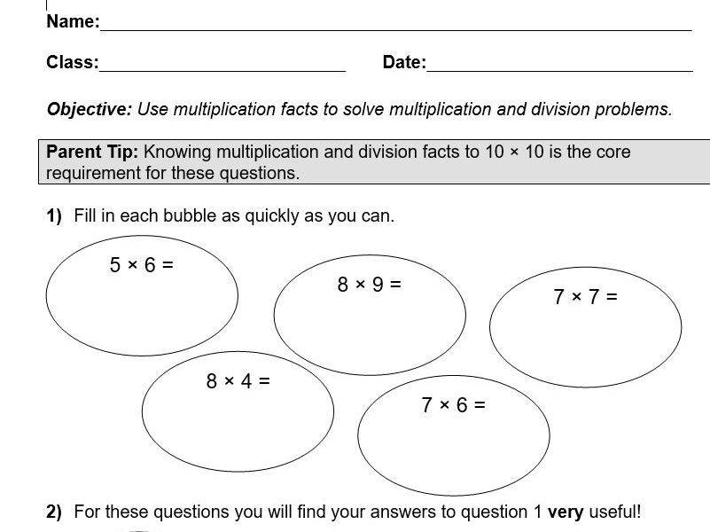 Year 5 Maths Home Mini Learning Pack includes Answers and Parental Guidance (Coronavirus)