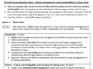AQA GEOG.3 40 mark essay booklet