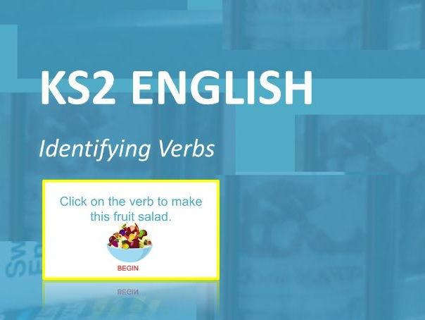 KS2 English.  Interactive Verb Game.