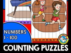 SUMMER GAMES CENTER: SUMMER GAMES COUNTING PUZZLES: NUMBERS 1 TO 100