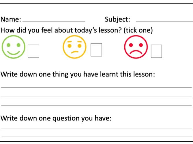 Self-Assessment Cards