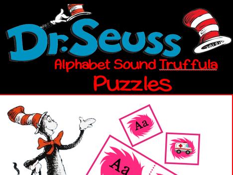 Alphabet Letter Truffula Puzzles- Beginning Sounds