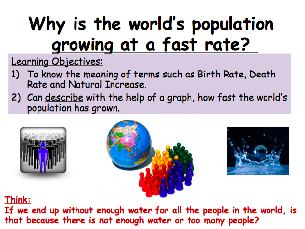 Lesson 2: Why is the world's population growing at a fast rate?