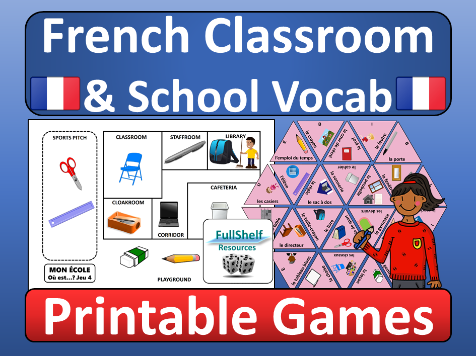 French Classroom and School Games