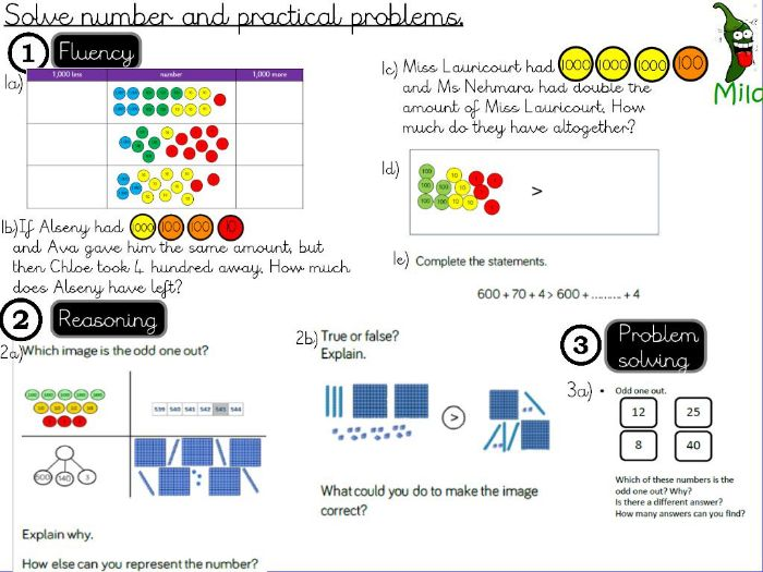 Place Value-  Solve number and practical problems