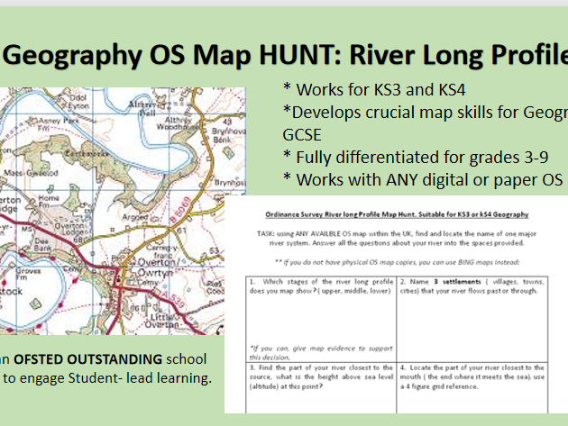 Geography River Long Profile OS map Hunt