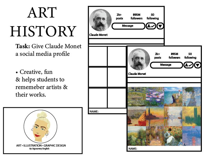 Art History: Give Claude Monet a social media profile