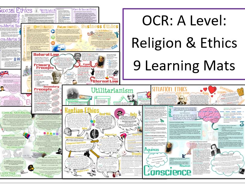 OCR A Level: Religion and Ethics: Learning Mat Bundle