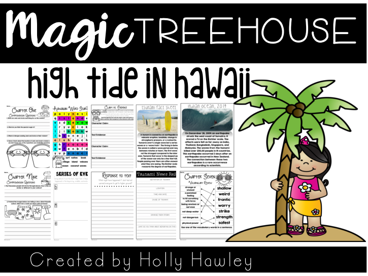High Tide In Hawaii-The Magic Tree House A Guided Reading Activity