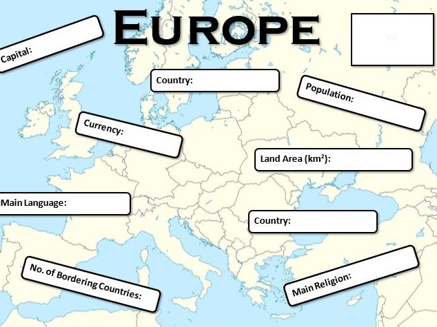 A Country in Europe Fact File