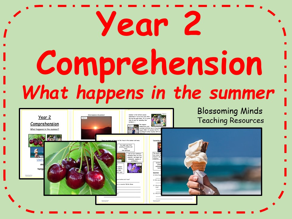 Year 2 non-fiction comprehension - What happens in the summer