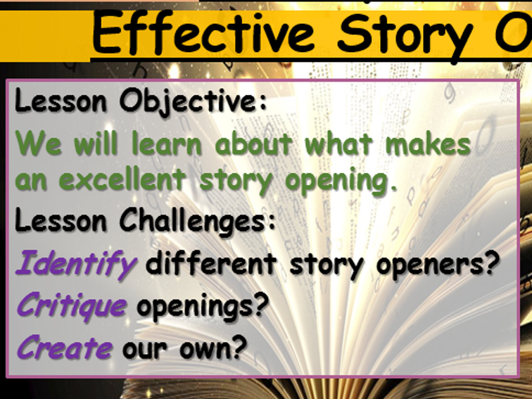 Creating a Story Opening