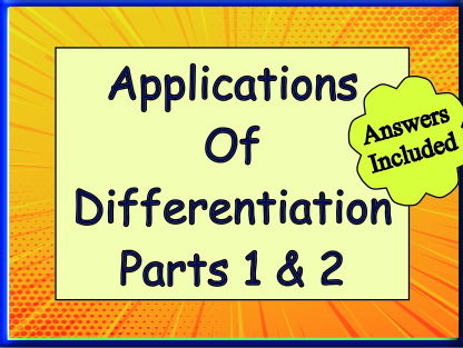 Applications of Differentiation 1 & 2