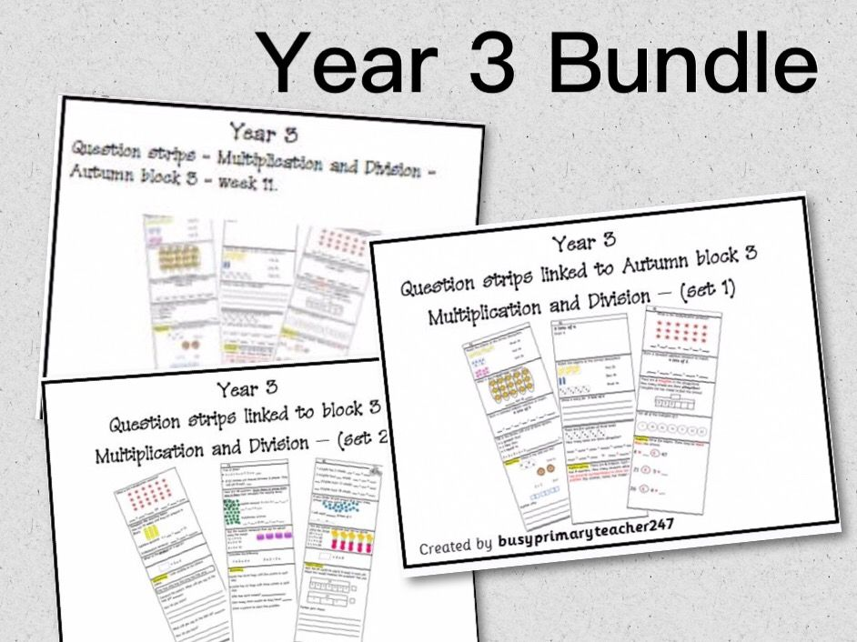 Year 3 Multiplication and Division Bundle Autumn term
