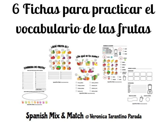 SPANISH FRUITS VOCABULARY + SMOOTHIE RECIPE ACTIVITIES