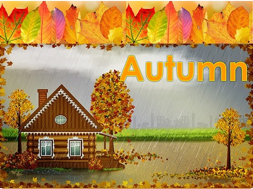 EY/KS1 Signs of Autumn Powerpoint of 41slides.