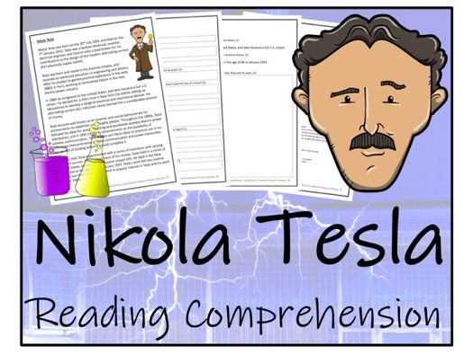 UKS2 Science - Nikola Tesla Reading Comprehension Activity