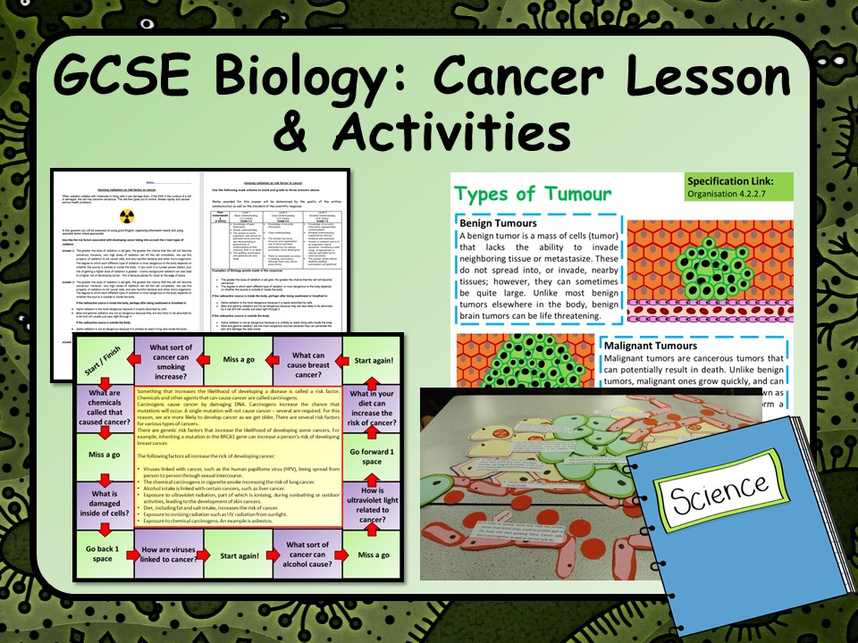 KS4 AQA Biology (Science) Cancer Lesson & Activities | Teaching Resources