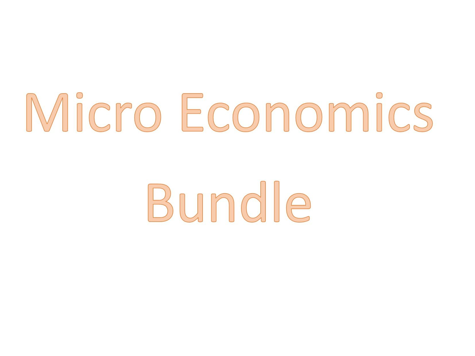 Micro Economics Selection of GCSE resources